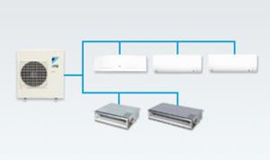 Multi split system installation