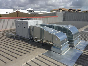 Rooftop package unit installation